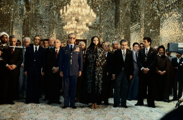 Shah of Iran Visiting Machad Mosque